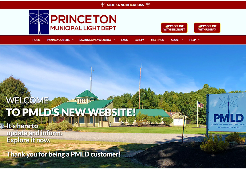 PMLD website home page screenshot